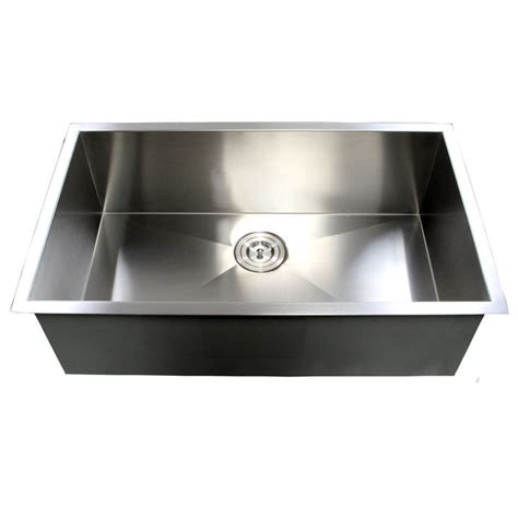 zero radius undermount sink 32 inch stainless steel undermount single bowl kitchen