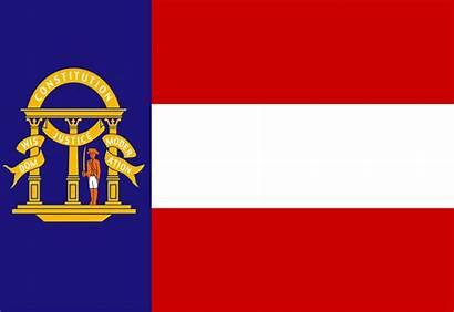 Georgia Flag State Clip 1906 Vector 1902