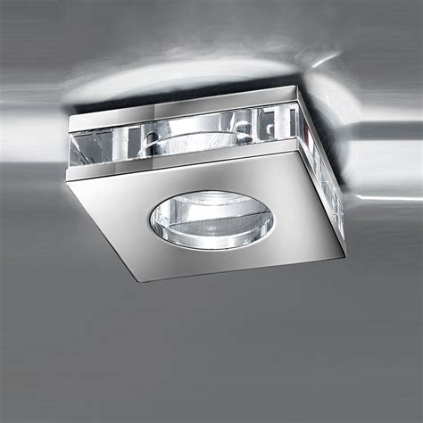 Franklite Rf267 Ip65 Chrome Finish Recessed Crystal Downlight