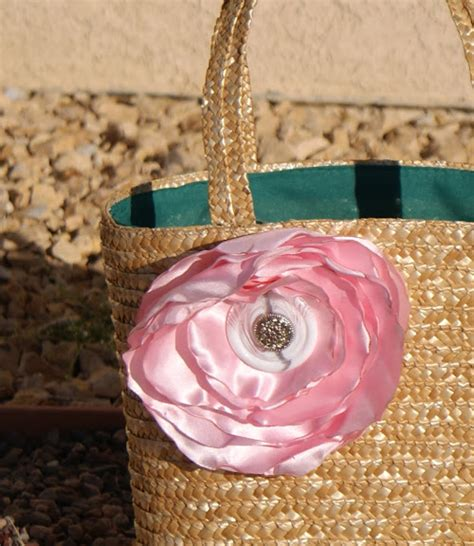 spring inspired straw flower tote drama queen seams