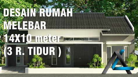 desain rumah melebarx meter ruang tidur youtube