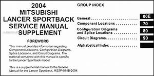 2004 Mitsubishi Lancer Sportback Wiring Diagram Manual Original