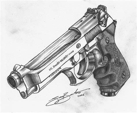 gan siege beretta m92fs guns drawings and
