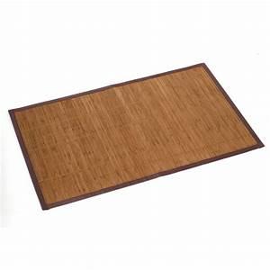 tapis de bain l80 x l50 cm bambou leroy merlin With tapis salle de bain bambou