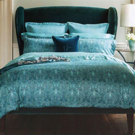 Teal Duvet Cover by Henry 1850 Alhambra Teal Blue Cotton Duvet
