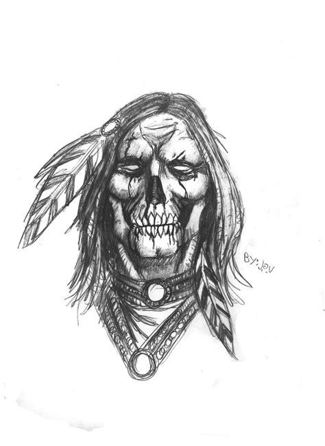 Native American skull by DarkMatteria.deviantart.com on