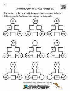 Printable Math Puzzles 5th Grade | School | Pinterest
