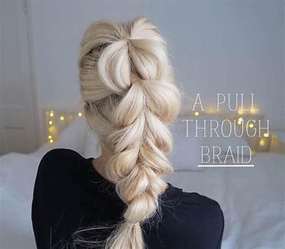 Hair Pull Through Braid Thick Chunky Tutorial