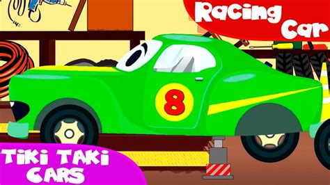 cartoon car racing cars with car service car wash cars trucks
