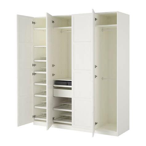 pax wardrobe white hemnes white 200x60x236 cm ikea