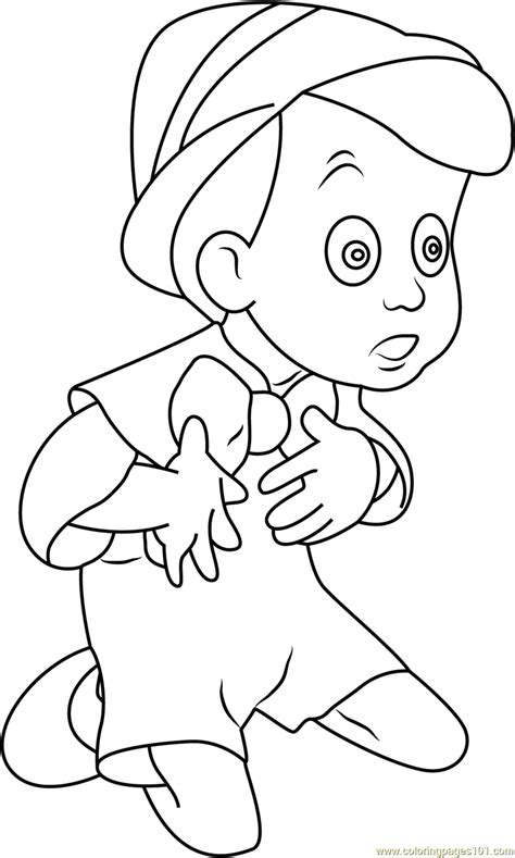 pinocchio sitting   coloring page