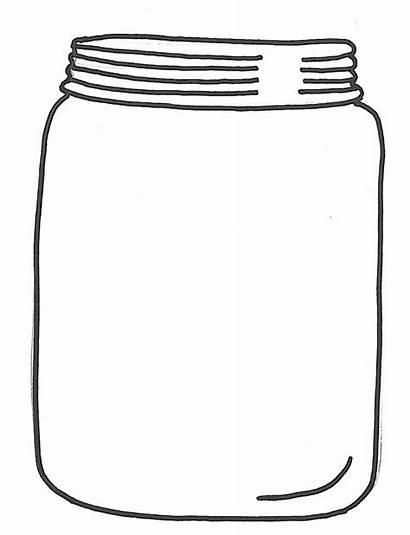 Jar Mason Glass Clipart Cookie Jars Empty