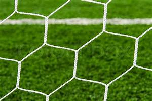 Soccer field with net texture background.   Stock Photo ...