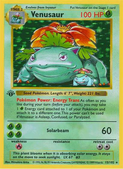 Pokemon Venusaur Card Base Cards Bulbasaur Rare