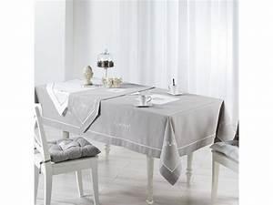 Nappe Rectangulaire Grise : nappe grise ~ Teatrodelosmanantiales.com Idées de Décoration