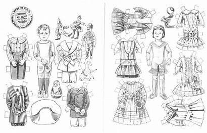 Doll Coloring Paper Dolls Pages Boy Printable