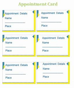 appointment card template templates for microsoftr word With appointment cards templates free