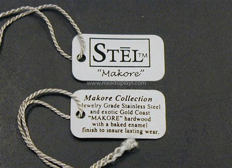 Pvc Flexible Plastic String Tags Brand Jewelry