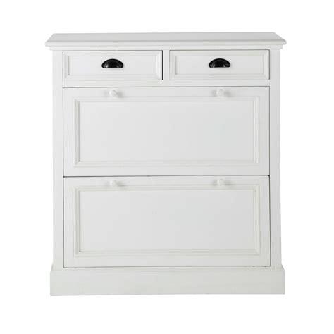 meuble à chaussures en bois blanc l 90 cm newport