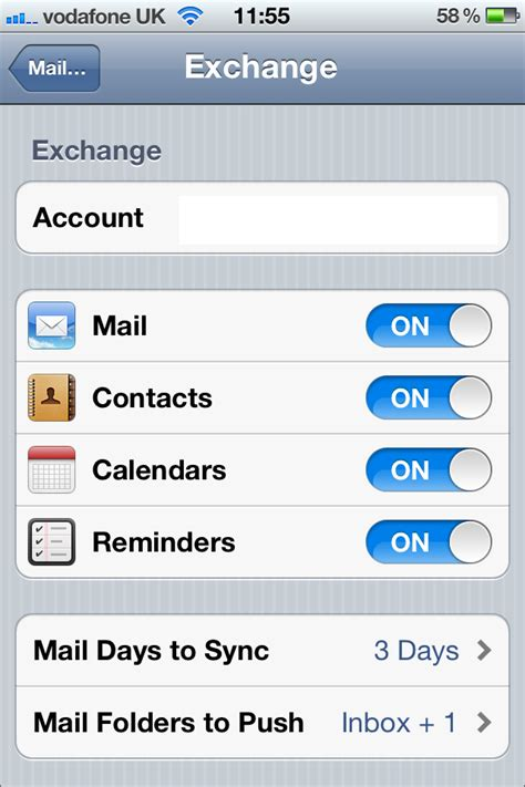 iphone exchange setup or iphone to connect to microsoft exchange 2007