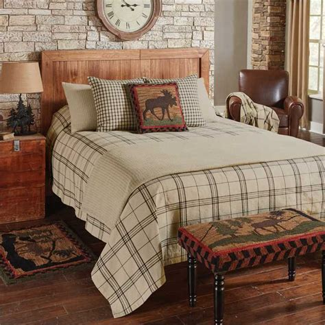Black Quilts And Coverlets by Fieldstone Plaid Black Coverlet Park Designs