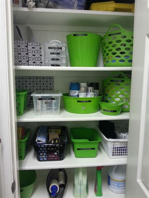 Bathroom Closet Organization Ideas by Closet Done With Dollar Store Bins Linen Closet Im
