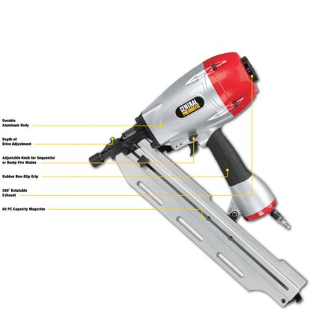 harbor freight tools floor nailer 21 176 angle framing air nailer