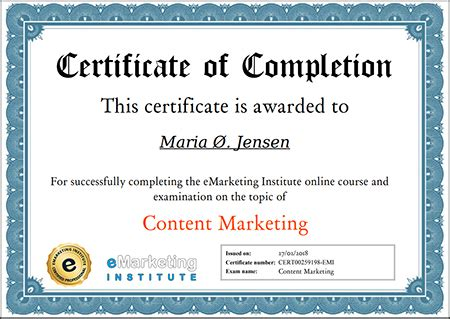 Content Marketing Certification by Free Content Marketing Certification Course Emarketing