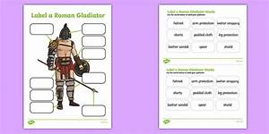 Roman Gladiator Clothing Labelling Worksheet    Activity Sheet