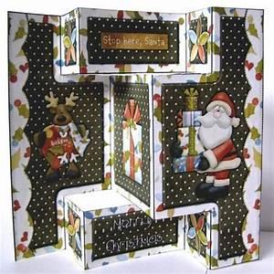 believe in santa tri fold shutter card on Craftsuprint