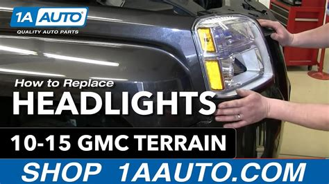 install change headlight  bulb   gmc terrain
