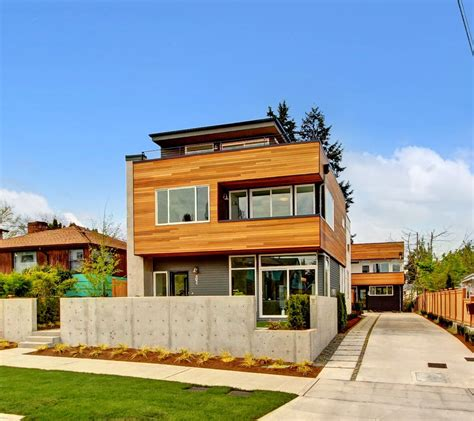 west seattle built green roof deck modern living