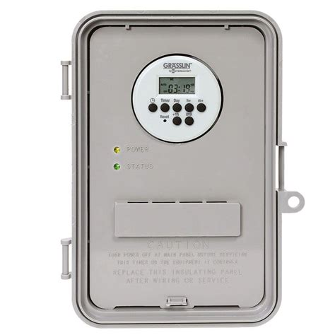 christmas light timer home depot intermatic 40 amp auto volt digital industrial timer