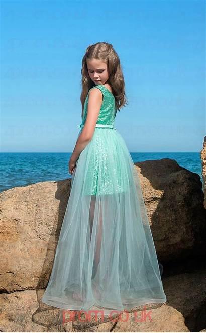 Dresses Prom Mid Sleeveless Turquoise Party Jewel