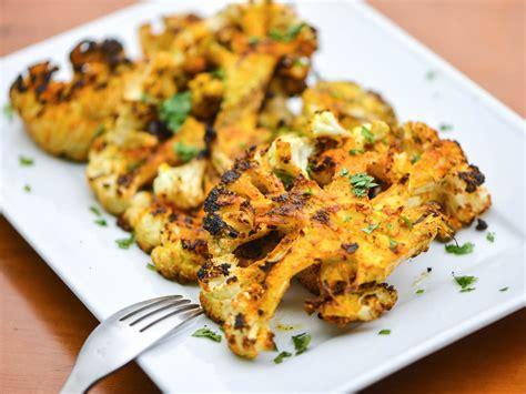 grilled spiced cauliflower recipe  eats