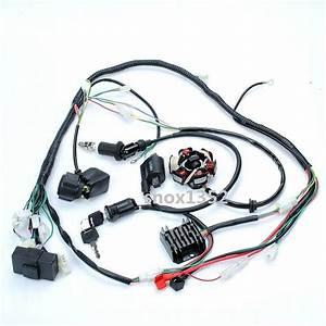 Complete Electrics Gy6 Atv Go Kart 125cc 150cc Wire Wiring