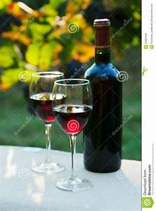Two Glasses Of Red Wine Royalty Free Stock Image - Image ...