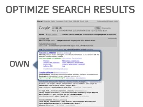 optimize search results bought - Optimize Search Results
