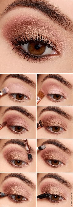 Пошаговая инструкция с фото дневного макияжа для карих глаз.