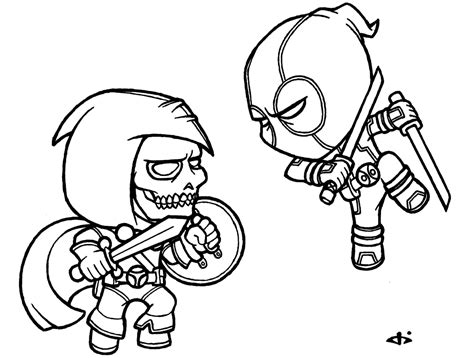 Printable Deadpool Coloring Pages - Costumepartyrun