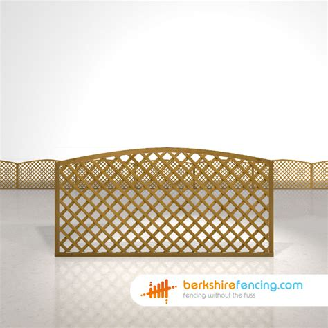 6ft Fence Panels With Trellis by Convex Trellis Fence Panels 3ft X 6ft Brown