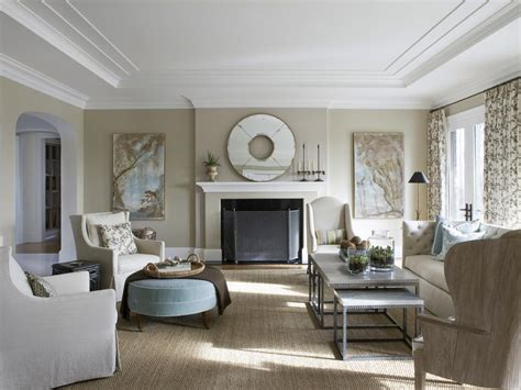 living room in traditional living room with neutral palette hgtv