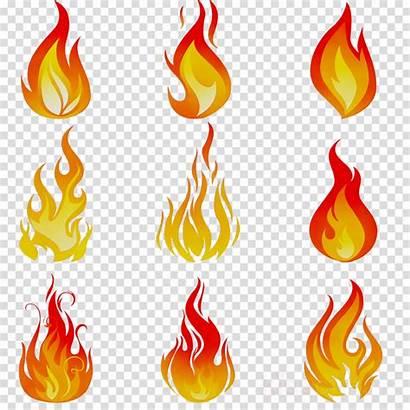 Flame Cartoon Fire Clipart Clip Orange Transparent