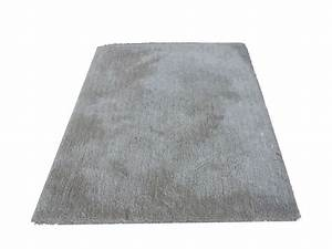 tapis 160x230 cm velour coloris gris With tapis velours gris