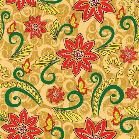 Vector Retro Floral Seamless Pattern | Free Vector ...