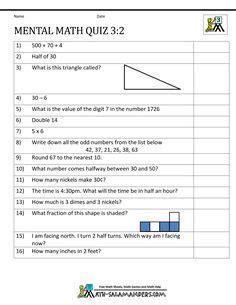 mental math quizzes images mental math math