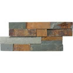 slate backsplash tiles for kitchen shop anatolia tile oxide ledgestone slate wall tile
