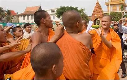 Monks Religious Freedom Cambodian Buddhist Cambodia Bad