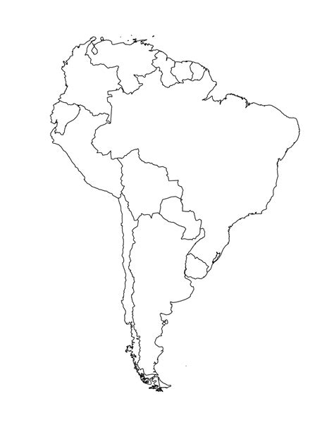 South America Clipart Coloring Pencil And In Color South