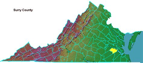 Surry County- Geography of Virginia
